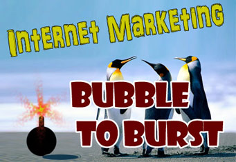 Internet marketing bubble to burst