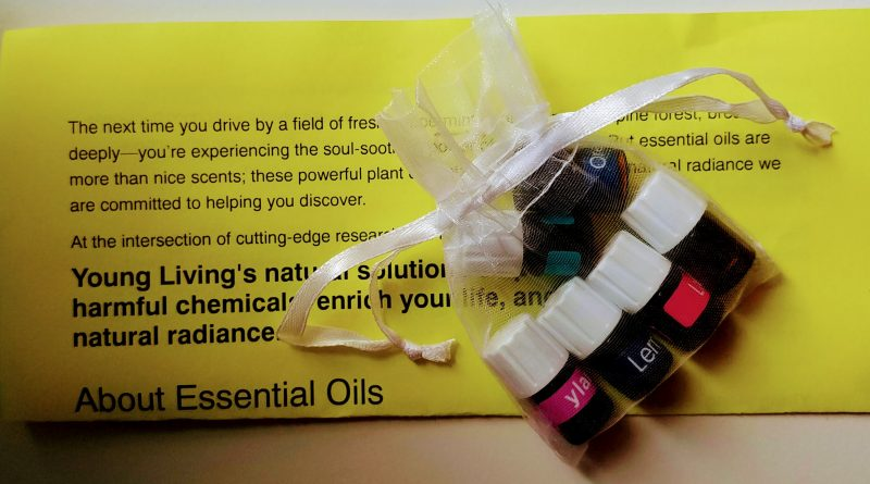 Young Living Essential Oils sampling
